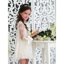 Платье-трапеция нарядное ванильного цвета ЭВИ