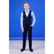 """Костюм для мальчиков синего цвета (жилет и брюки) """"Style"""""""