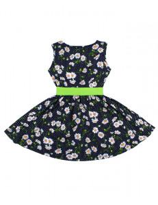 """Платье для девочек с зеленым пояском """"летние ромашки"""""""