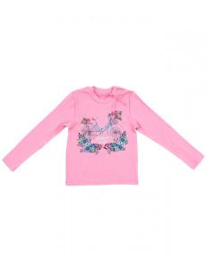 """Джемпер для девочек розовый """"незабудки"""""""