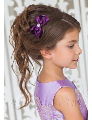 """Зажим для волос фиолетового цвета """"Виктория"""" (2шт)"""